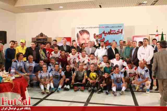 قهرمانی تیم شهید طهرانی مقدم با چهره های فوتسالی+عکس