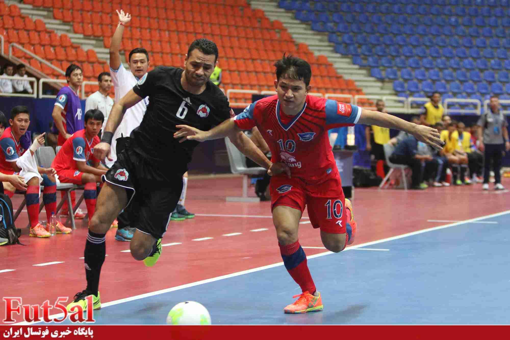 گزارش تصویری اختصاصی/بازی تیم های الریان قطر و چونبوری تایلند