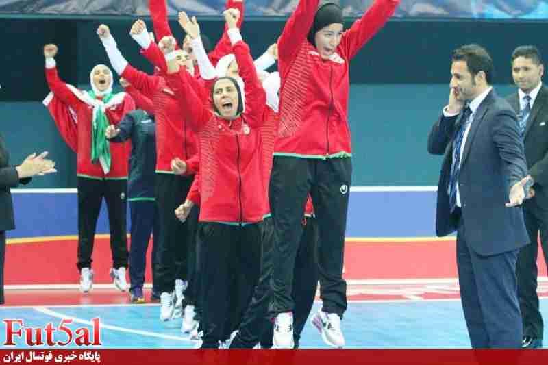 پیام تبریک مدیریت و کادر فنی تیم امید فوتبال به تیم ملی فوتسال بانوان