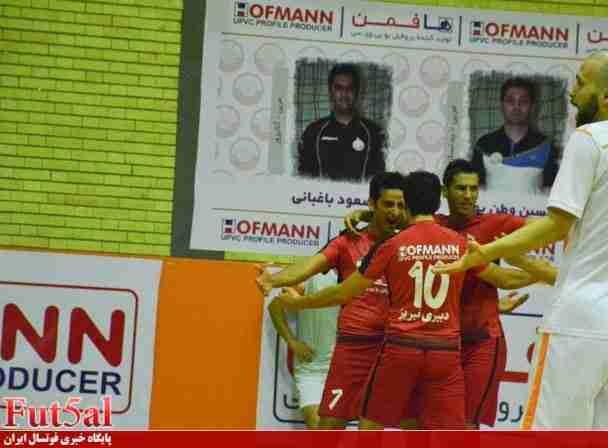 پیروزی پرگل دبیری مقابل مس