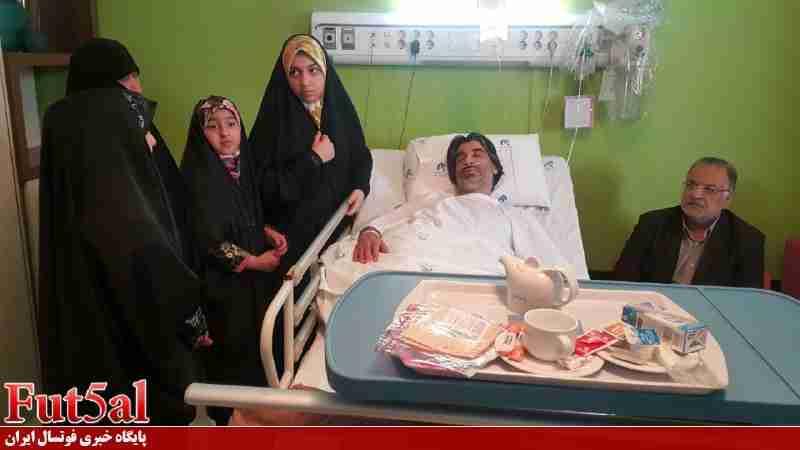 گزارش تصویری/بستری شدن وحید شمسایی در بیمارستان