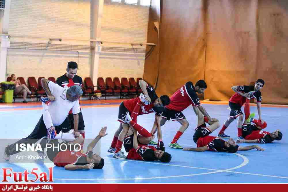 آخرین تمرین تیم ملی فوتسال برگزار شد