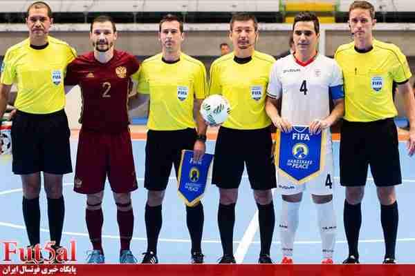 اعتراض تیم ملی فوتسال ایران به داوری بازی با روسیه