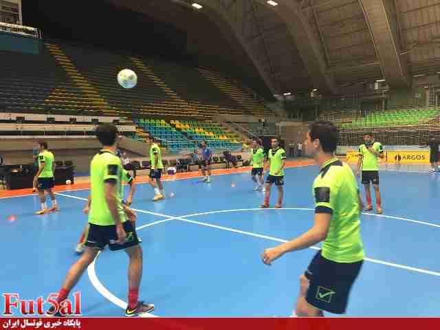 برگزاری تمرین تیم ملی فوتسال پیش از دیدار برابر روسیه /گزارش تصویری
