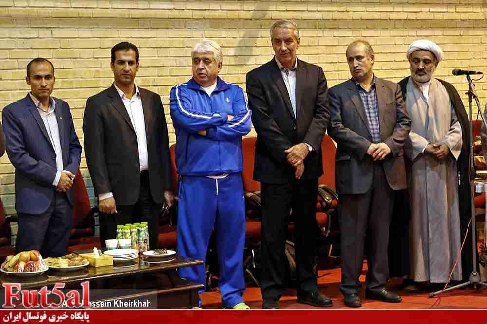 آشتی شمس و کفاشیان در مراسم بدرقه تیم ملی فوتسال