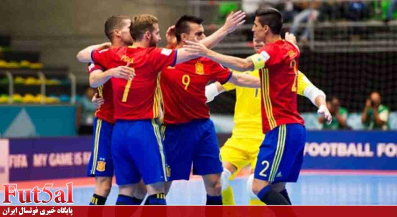 شکست ایران در نیمه اول مقابل اسپانیا
