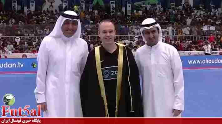 اینیستا در کویت فوتسالیست شد+ تصاویر