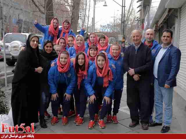 گزارش تصویری/تهران گردی بازیکنان فوتسال بانوان روسیه