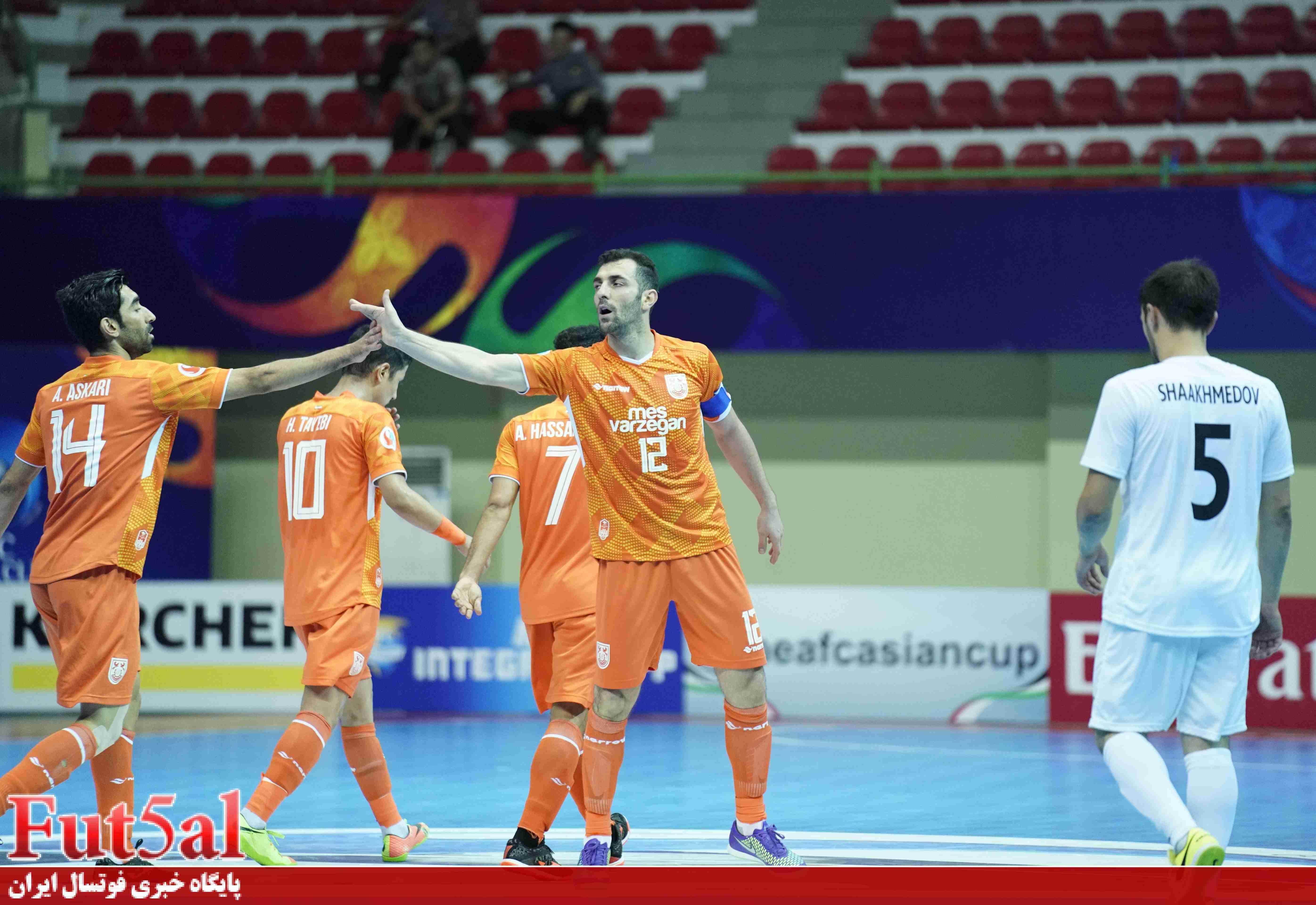 گزارش تصویری/بازی تیم های مس سونگون ایران با ای ام جی کی ازبکستان