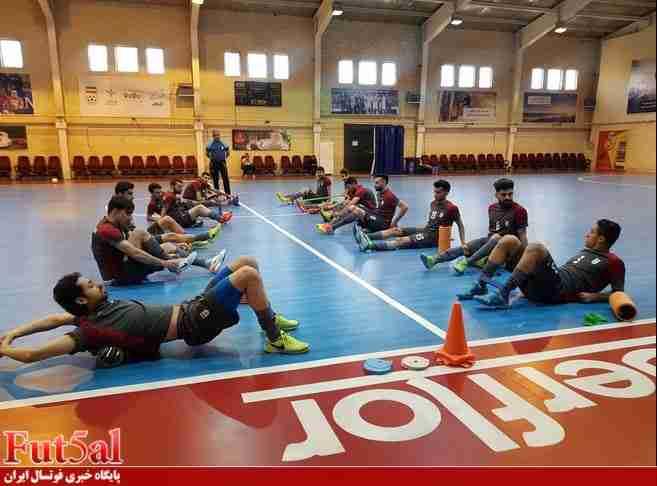 پایان تمرین تیم ملی فوتسال