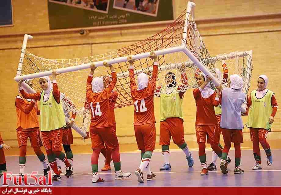 برگزاری تمرین تیم ملی فوتسال بانوان+گزارش تصویری
