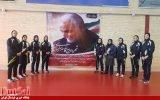 ادای احترام تیمهای ملی فوتسال بانوان زیر ۲۰ سال و بزرگسال به سردار شهید سلیمانی