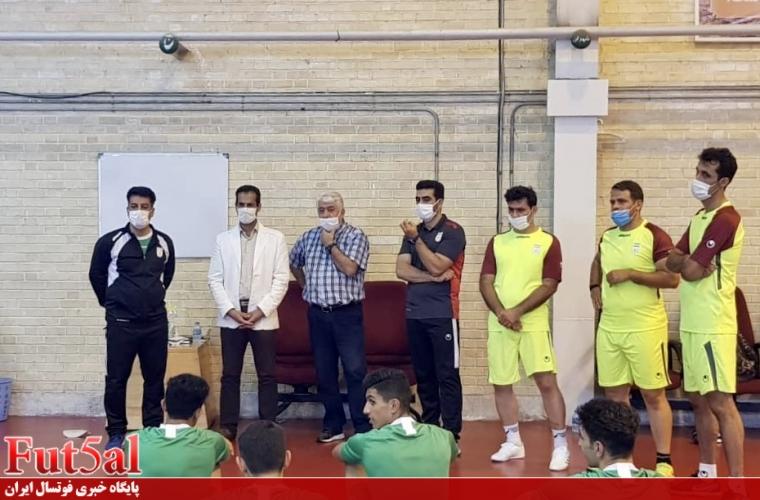 گزارش تصویری/حضور حسین شمس و داود پرهیزکار در تمرین تیم جوانان