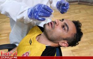 گزارش تصویری/تست کرونا تیم گیتی پسند