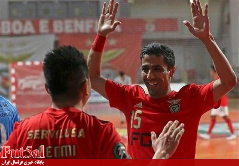 تداوم رکورد صد در صد پیروزی یاران طیبی در لیگ فوتسال پرتغال