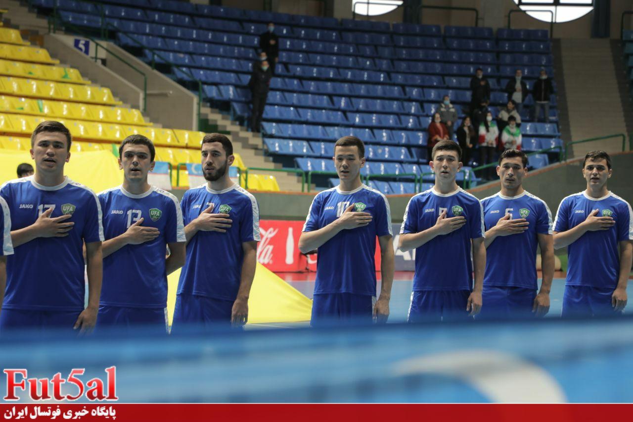 آماده سازی چراغ خاموش تیم ملی فوتسال ازبکستان/پیروزی رقیب ایران
