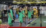 بازیکنان مس سونگون در سالن بدنسازی + گزارش تصویری