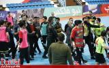 درگیری در دیدار فوتسال کراپ الوند و گیتی پسند اصفهان