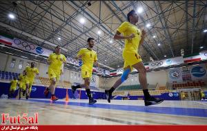 تصاویری از تمرین تیم ملی فوتسال در جزیره کیش