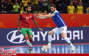 گزارش تصویری/ بازی تیم های برزیل و مراکش در یک چهارم نهایی جام جهانی فوتسال