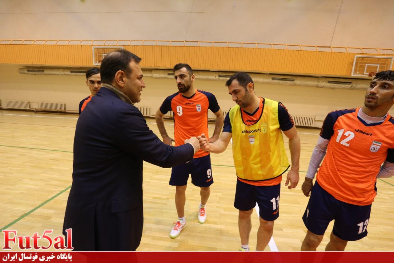 اختصاصی Fut5al/ گزارش تصویری تمرین امروز تیم ملی فوتسال با حضور رئیس فدراسیون فوتبال