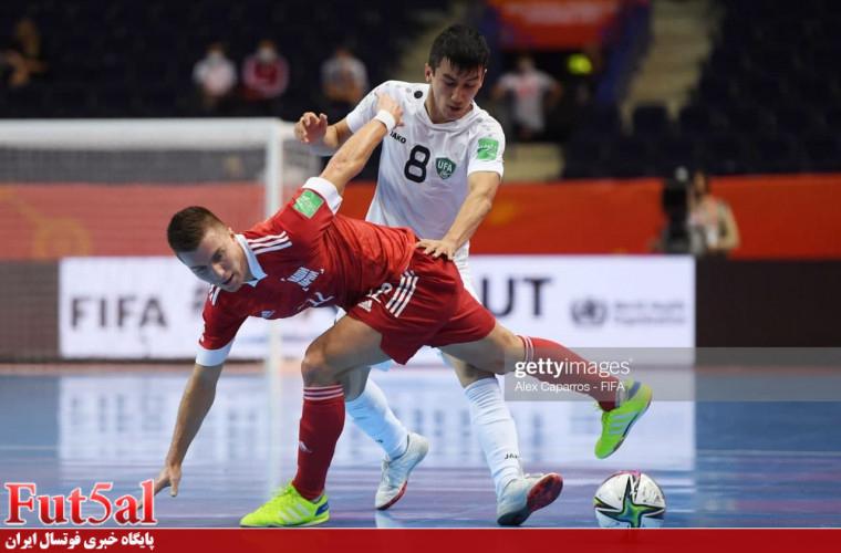 گزارش تصویری/بازی تیم های روسیه و ازبکستان در جام جهانی ۲۰۲۱